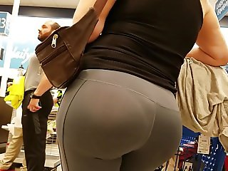 Phat Ass Latin MILF in See Thru Spandex