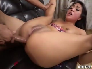 Hardcore huge black cock squirt Rough anal