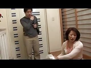 Big Ass Japanese Mom with son