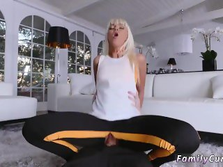Blonde russian milf masturbate Stretching