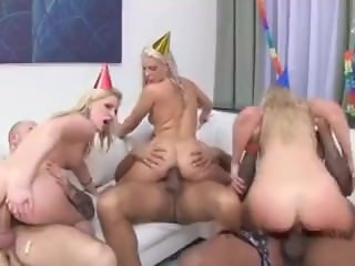 Busty buffy in a orgy