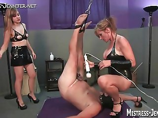 Many femdom Mistresses dominate male pigs
