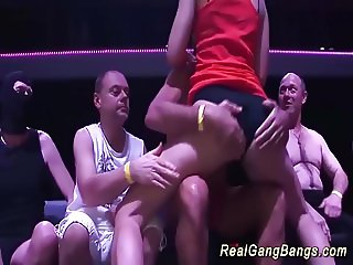 her first gangbang party