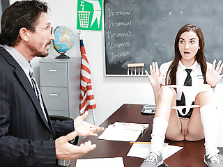 InnocentHigh - Cute Schoolgirl Jade Amber Fucked By Huge Coc