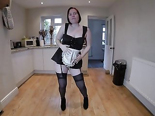 French Maid Dancing Striptease