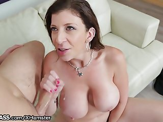Big Titty Cougar Starved Out to Blow Daughters Boytoy!