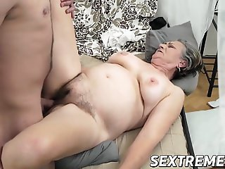 Granny Kata blowing Robs dick and getting hammered hard