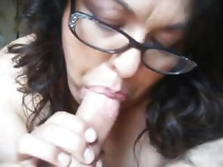 nasty mature bbw throating my hard cock pov close up