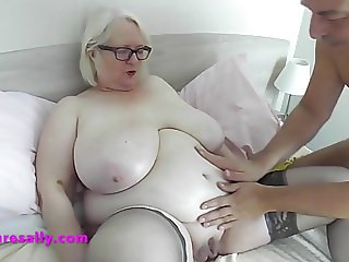 Sally receives her personal Xmas massage