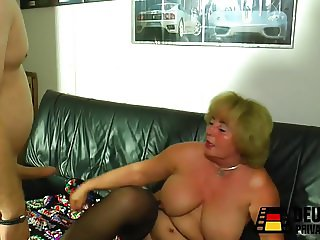 Blonde granny with big tits