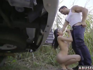 Teen taste cum hot rope suspension