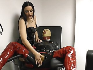 Mistress nipples torture with long french nails
