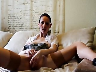 Hot German JOI Masturbation in High Heels Nylons