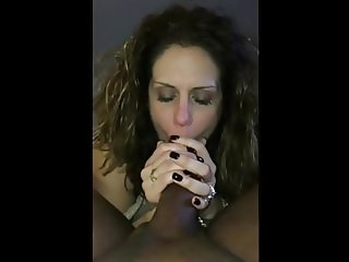 Sucks BBC With Her Husband Watching