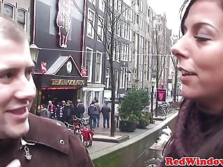 Real euro tourist eats dutch hookers pussy