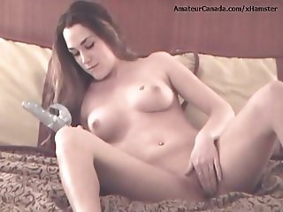 Skinny girl amateur masturbation with new vibrator