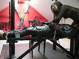Danish Femdom presents Latex slave maintained