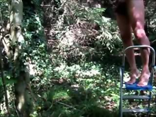 Scrotal suspension Outdoors