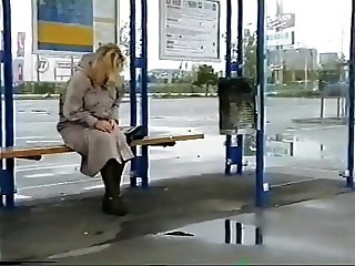 Bus shelter pee