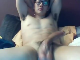 A Big Dicked South Korean Guy Jerks And Cums