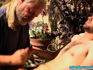 JS Wild taking care of sexy strong dick Jeremy Cox with BJ