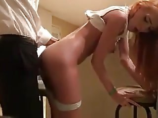 Fucking the friend's daughter in doggystyle