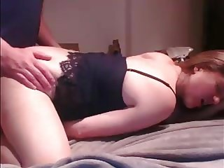 Cute Long Haired Blonde Blowjob, Fucking and Cum in Mouth
