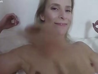Female Muscle Cougar Gets POV Worship