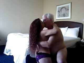 Silver haired daddy and girl
