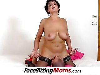 Panty sniffinig with big boobs lady Greta