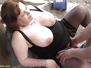 german bbw milf outdoor fucked