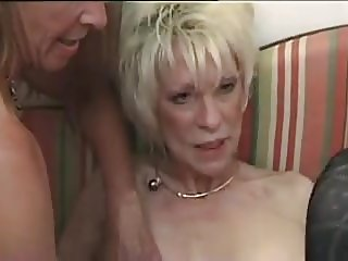 Two french mature women and a guy