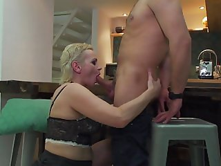 Ugly mom riding young huge cock