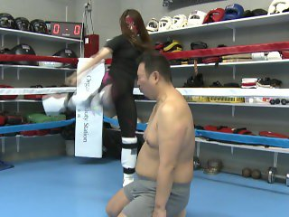 Japanese mistress Kaede kickboxing domination part 2