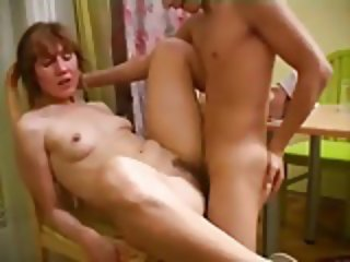 Russian Horny Milf Fucking a Younger Guy