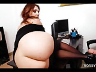 Big Natural Tits Secretary Drilled In Office