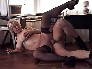 Big Saggy Hanging Tits MILF Stockings ASSFUCKED