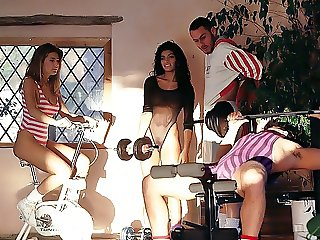 Draguitsa and Julia Channel, Orgy in gym