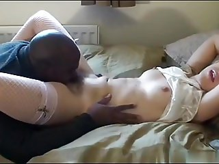 British Hairy Amateur Blond Takes On A BBC