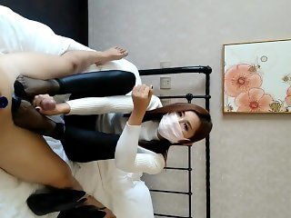 Chinese baoer footjob handjob compilation (part one)
