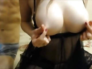 Russian Anal in Black Babydoll (Recolored)