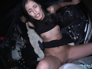 Public Agent Coco Kiss Fix My Car and Fuck My Pussy