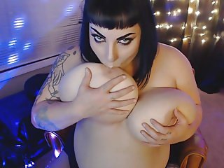 Goth BBW with enormous tits 2