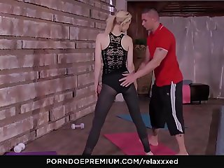 RELAXXXED - Sensual pool sex session with a lovely blondie
