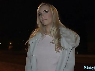 Public Agent Florane Russell Fucked in car and cum on tits