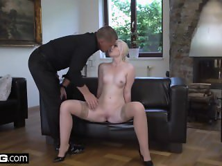 Glamkore - Lovita seduces her stepdad with a striptease