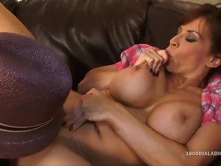 800DAD Big Tit Milf Devon Michaels Throated by Black Cock