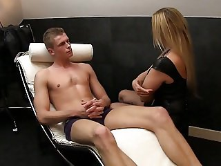 Barely legal boy meets experienced mature cougar