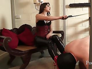 Worship Your Mistress - Mistress allows slave lick her boots