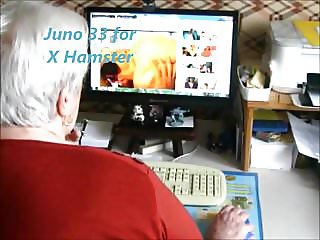 Granny watching X Hamster